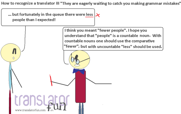 """Translators are eagerly waiting to catch you making grammar mistakes"" -- click on the image to enlarge"