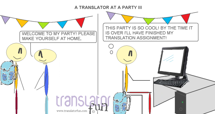 A translator at a party III (click on the image to enlarge it)
