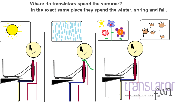 Where do translators spend the summer? (click on the image to enlarge)