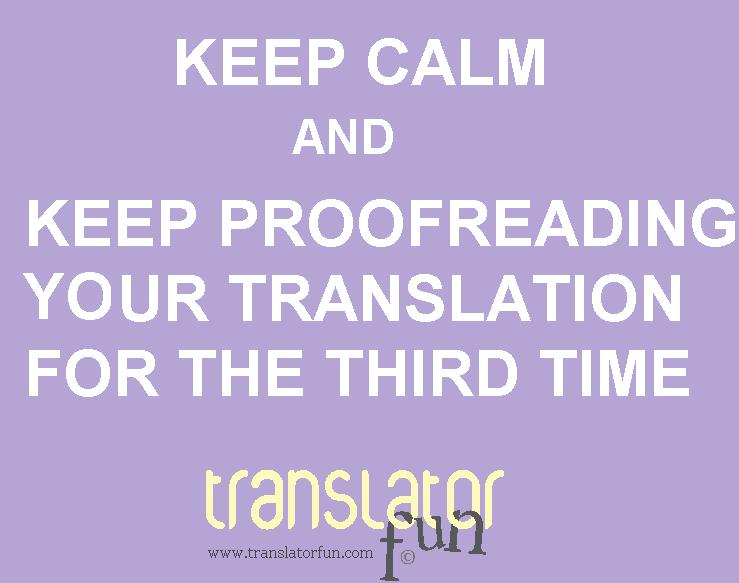 Keep calm signs for translators