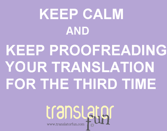 Keep calm signs for translators
