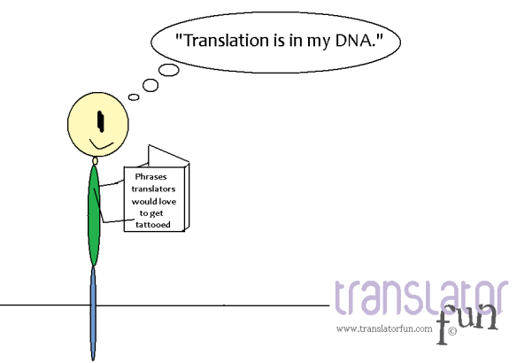 Tattoos for translators - click on the image to enlarge
