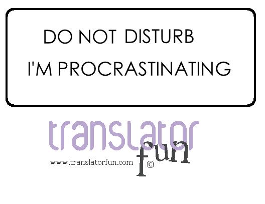 Signs for translators - Do not disturb