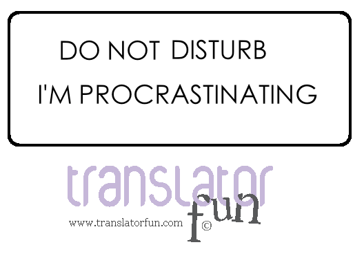 Signs for translators - Do not disturb