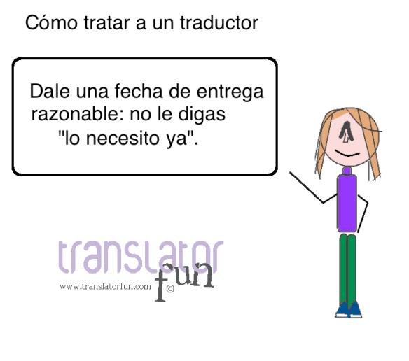 Cómo tratar a un traductor