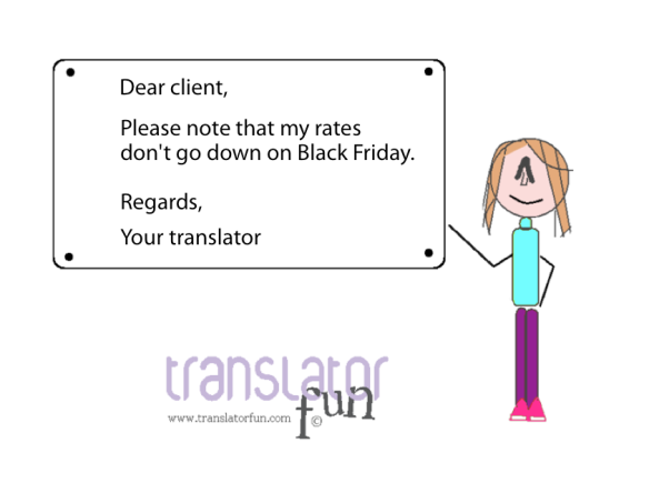 Black Friday for translators