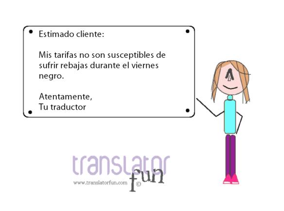 Viernes Negro para traductores