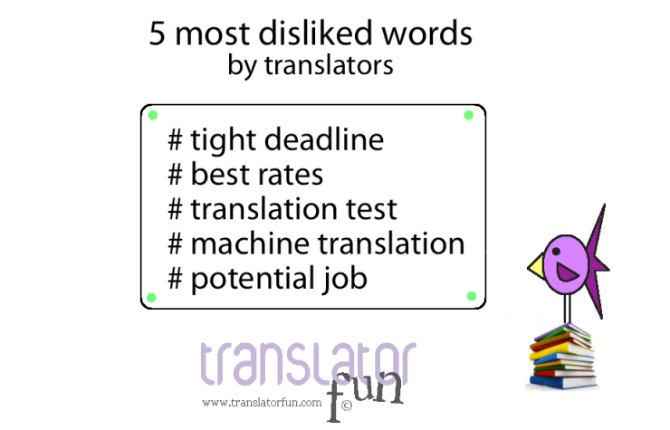 Most disliked words by translators