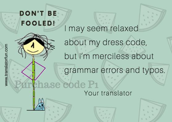 Translator obsessed with grammar errors