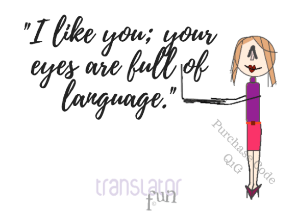 Pick up lines for translators