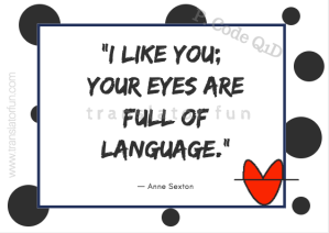 Cards for translators with quotes about language