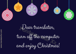 Christmas Cards For Translators