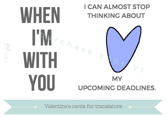 Valentine's cards for translators