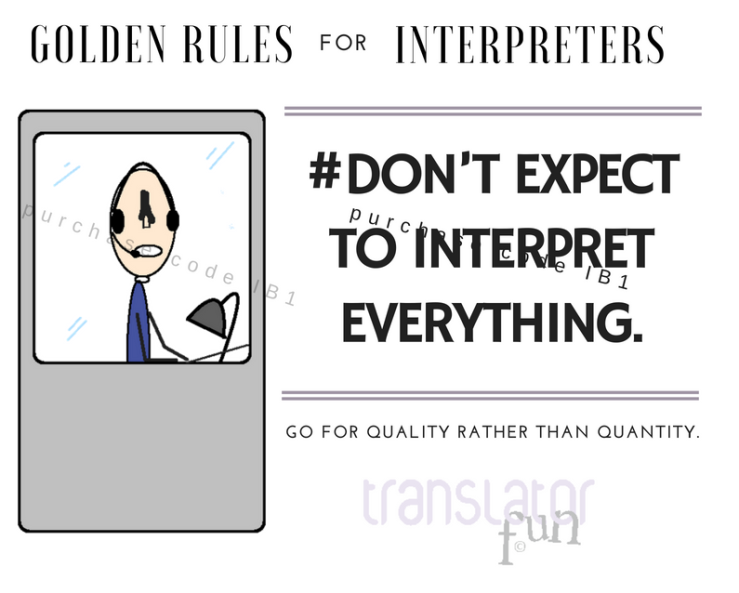 Golden Rules for Interpreters starting out on simultaneous interpretatuib