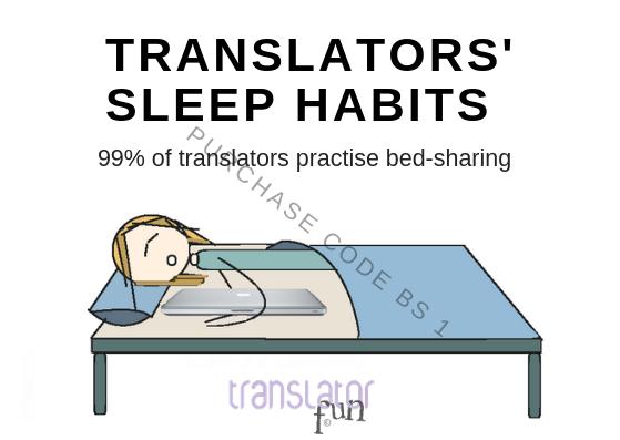 Translators' sleep habits