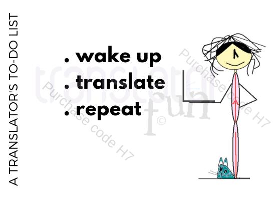 Translator's to do list