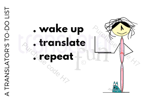 Translator's to do list