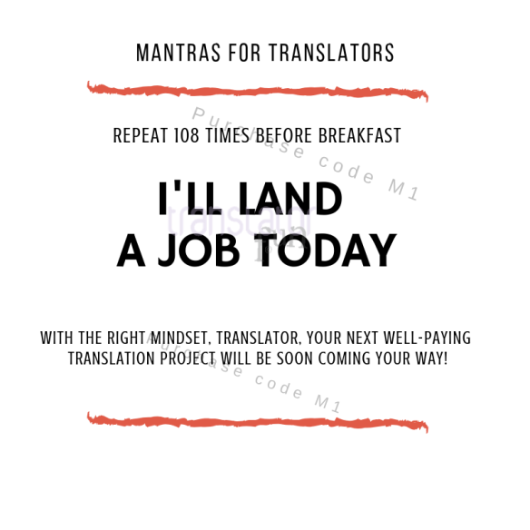 Mantras for translators