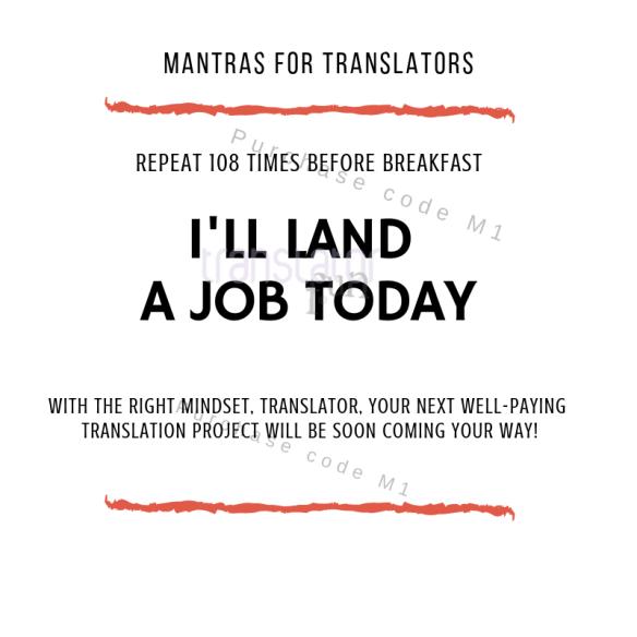 Mantras for translators