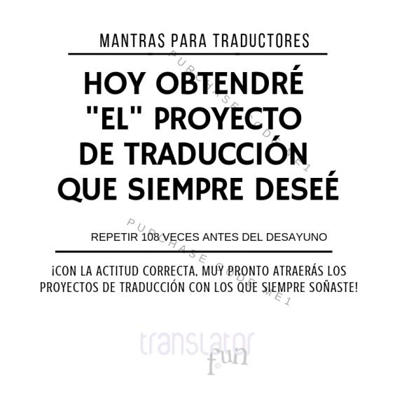 Trabajos de traducción