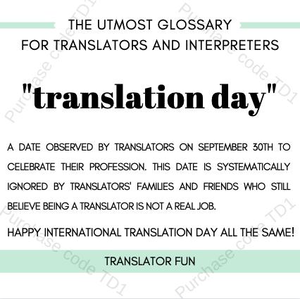 Translator's Day