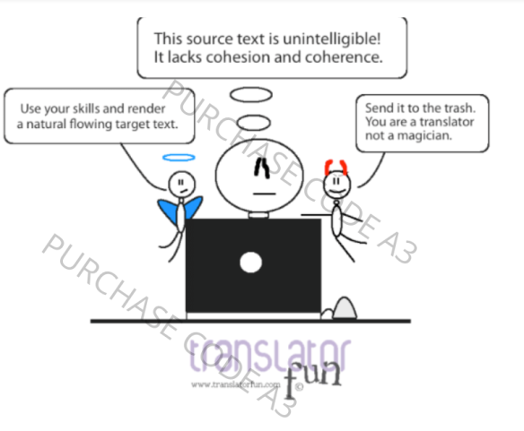 A translator's good and evil thoughts