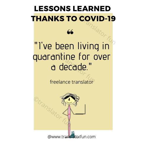A freelance translator during COVID-19