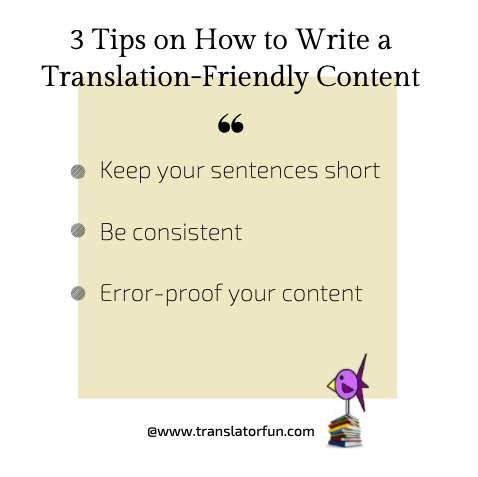 Tips on how to write translation-friendly content