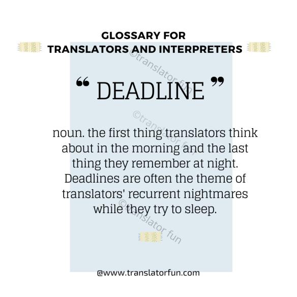 Deadlines in the lives of translators