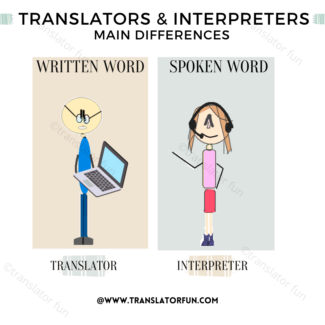 Differences between translators and interpreters