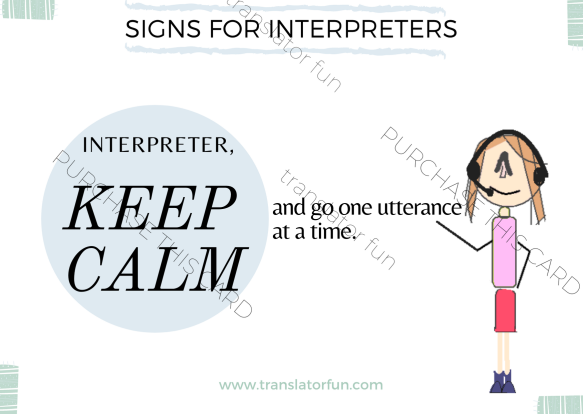 Keep calm and interpret