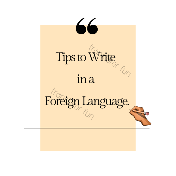 Writing in your second language