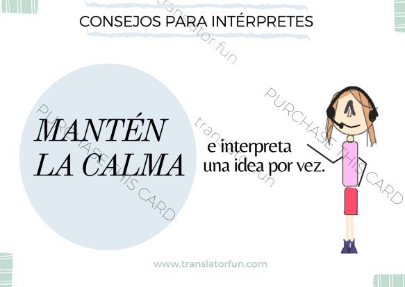 Mantén la calma e interpreta una idea por vez