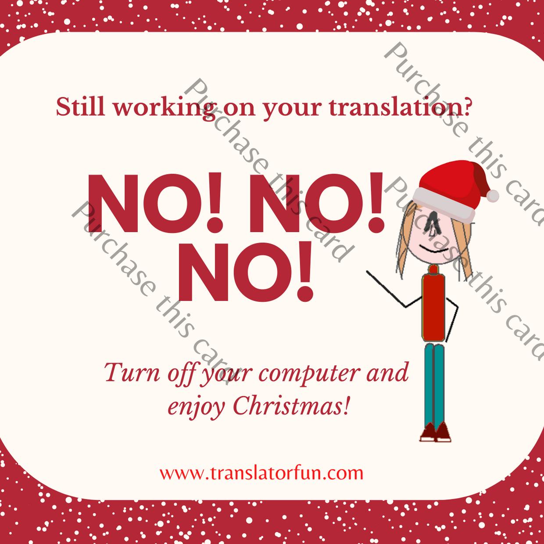 Christmas cards for translators