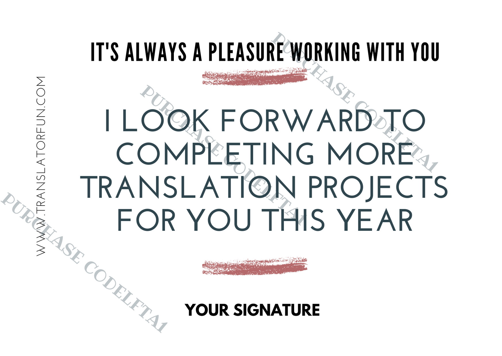 Cards to send to end clients and translation agencies LFTA1