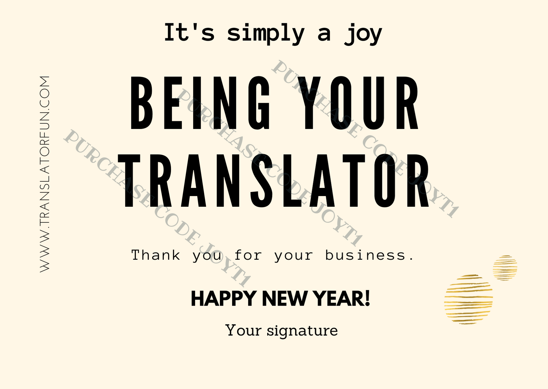 Thank you card for translators JOYT1