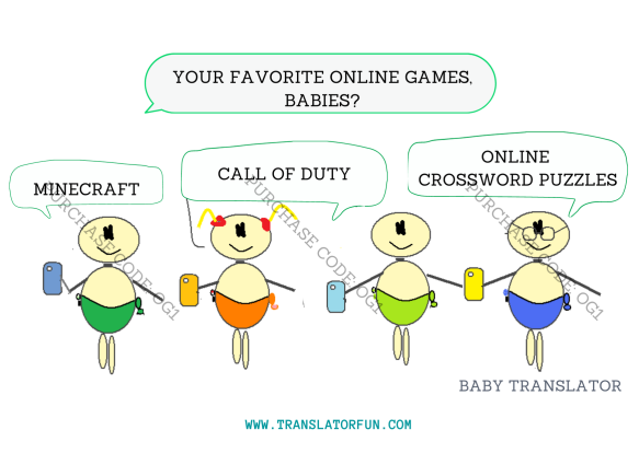 Online games for translators