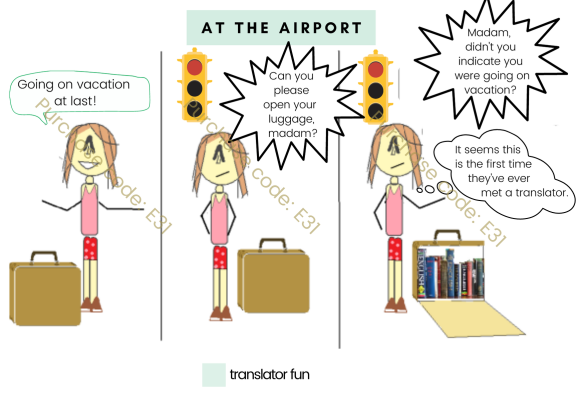 A translator going on vacation