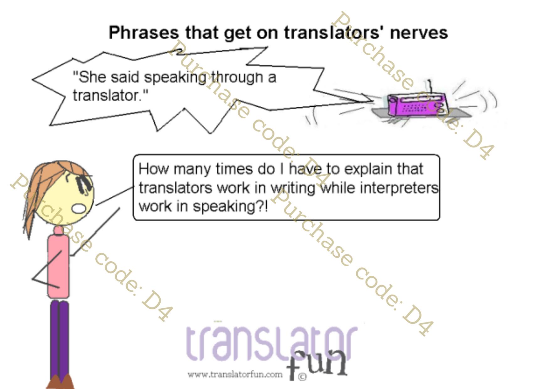 Translators vs interpreters