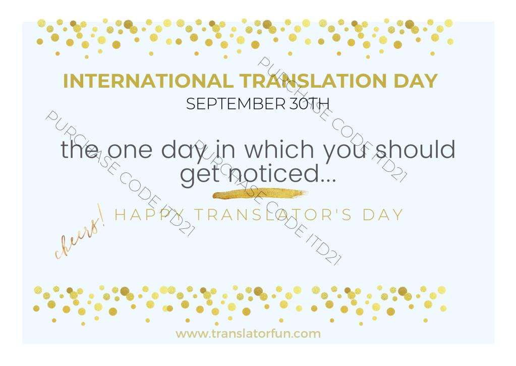 Translators' day